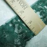 1 yard of 2 inch Emerald Green ruff..